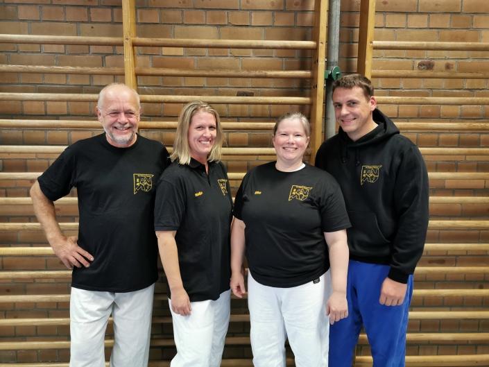 Die Trainer des SV-Kurses: v.l. Reinhold Schneider-Nieskens, Nadja Fischer, Elke Wendt, Björn Rupnow, nicht auf dem Bild ist Philip Lindner